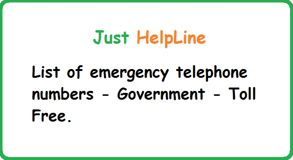 All Emergency Helpline Numbers of All Over India