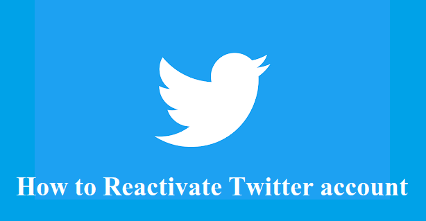 How to reactivate your Twitter account