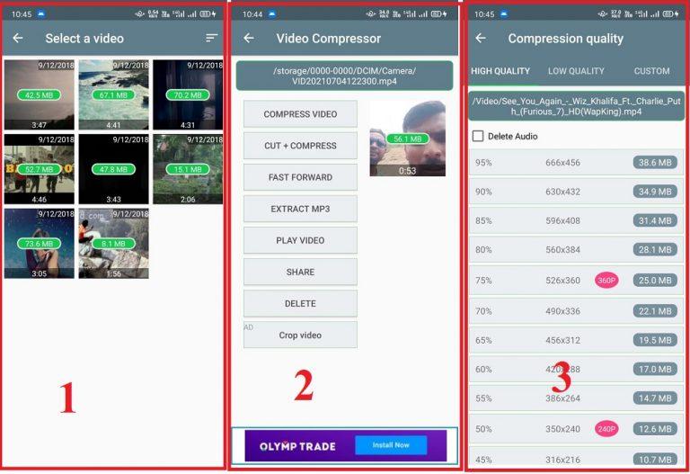 Video Compress app